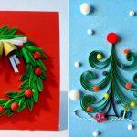 Фото 17: Новогодние открытки в технике квиллинг