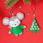 Фото 62: Новогодняя мышка из фетра
