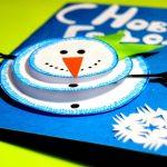 Фото 40: Объемный снеговичок на открытке