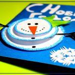 Фото 18: Открытка с объемным снеговиком