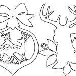 Фото 44: Новогодние вытынанки олени