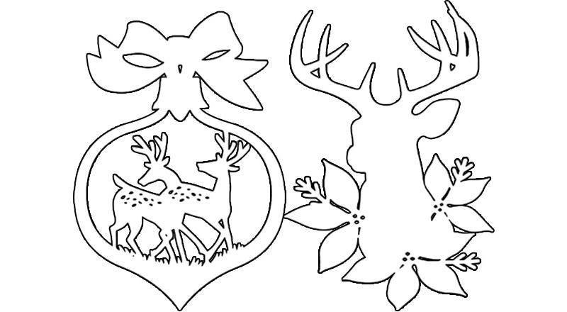 Шаблоны олени