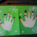 Фото 65: Новогодняя открытка ладошками