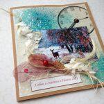 Фото 85: Новогодняя открытка с гербарием