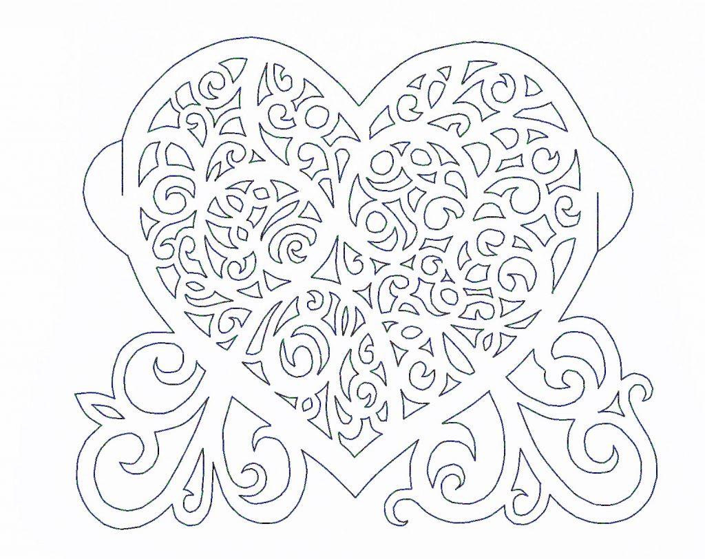 вытынанка открытка шаблон мехового салона