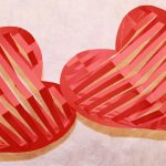 Фото 32: 3Д сердечки в полоску