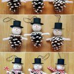Фото 77: Новогодний снеговик из шишек своими руками