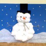 Фото 39: Снеговик из ваты
