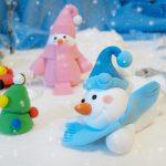 Фото 33: Снеговики из пластилина