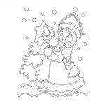 Фото 58: Бумажный шаблон снегурочки