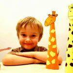 Фото 44: Жирафики из цветной бумаги