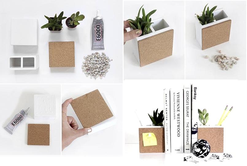 Держатели для книг с растениями из зубных стаканчиков