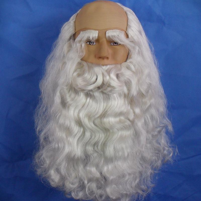Борода Деда Мороза из парика своими руками