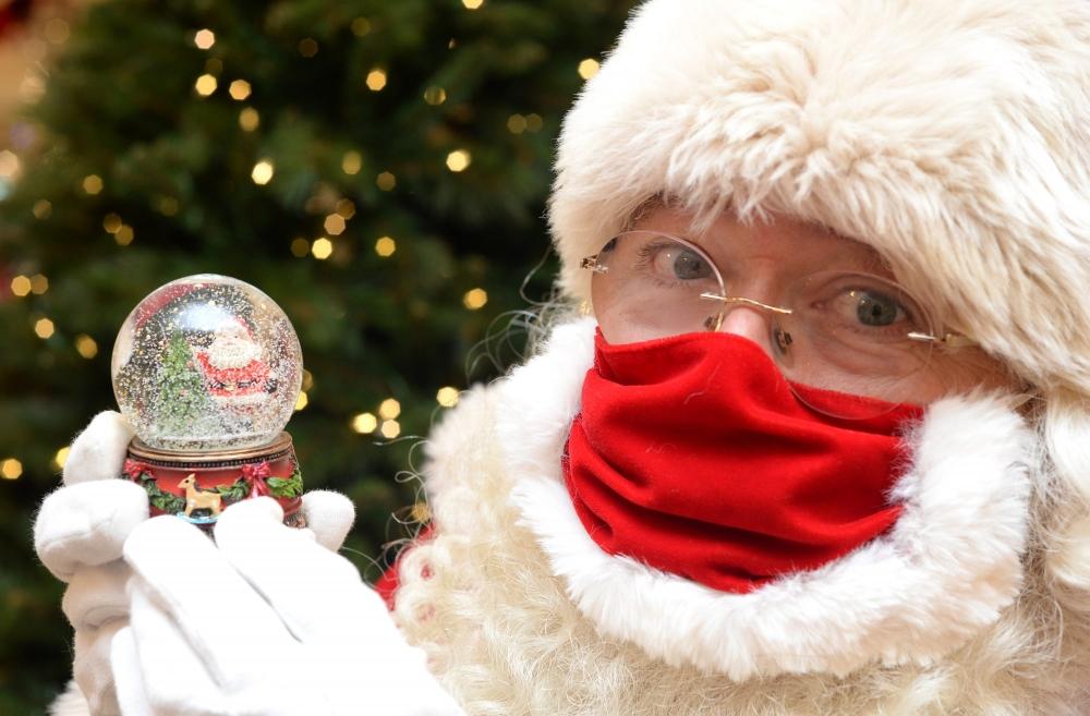 Защитная маска Деда Мороза