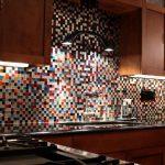 Фото 18: Мозаичный фартук из смальты