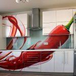 Фото 110: Композиция из фартука и фасадов на кухне