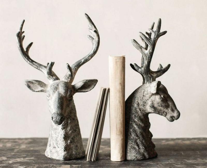 Книгодержатели в виде головы оленя