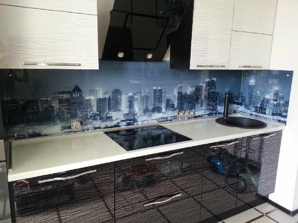 Образцы фотопечати на стекле для кухни