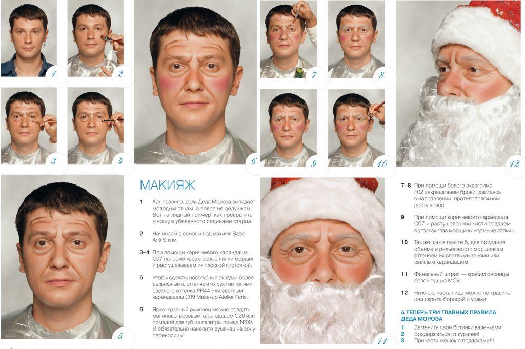 Грим Деда Мороза своими руками