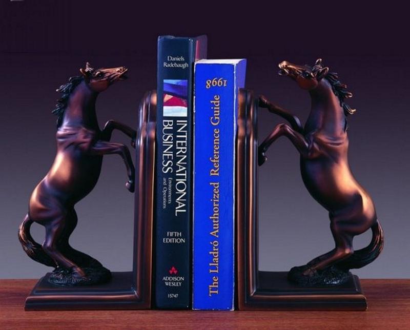 Бронзовые книгодержатели в виде лошадей