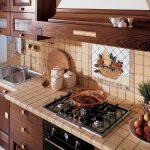 Фото 85: Кухонные фартуки из плитки фото