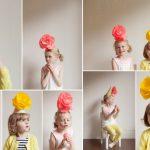Фото 19: Колпаки с большими цветами для модниц
