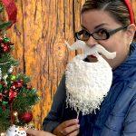 Фото 16: Борода Деда Мороза с усами в виде маски