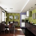 Фото 67: Обо на кухне, включая зону фартука