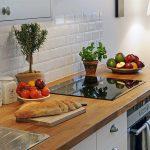 Фото 94: Фартук под белый кирпич на кухне