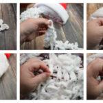 Фото 39: Связать бороду Деда Мороза столбиком