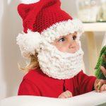 Фото 21: Шапочка с бородой под Деда Мороза