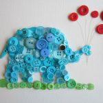 Фото 33: Слон с шариками из пуговиц