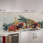 Фото 26: Выкладывание рисунка мозаики для фартука