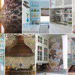 Фото 105: Варианты мозаики на кухне