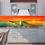 Фото 106: Яркий фартук на кухне с фотопечатью