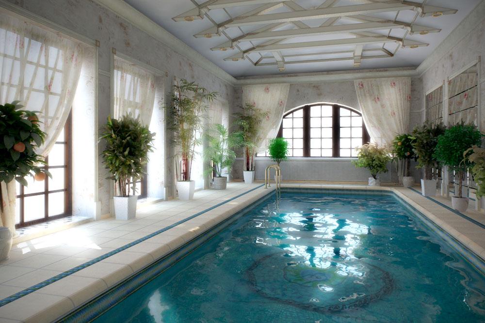 Бассейн в классическом стиле