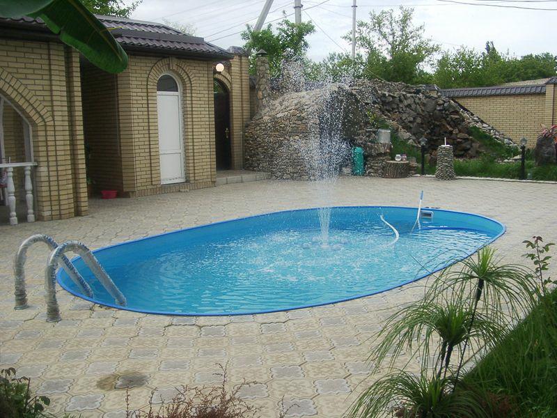 Дизайн дачного участка с бассейном