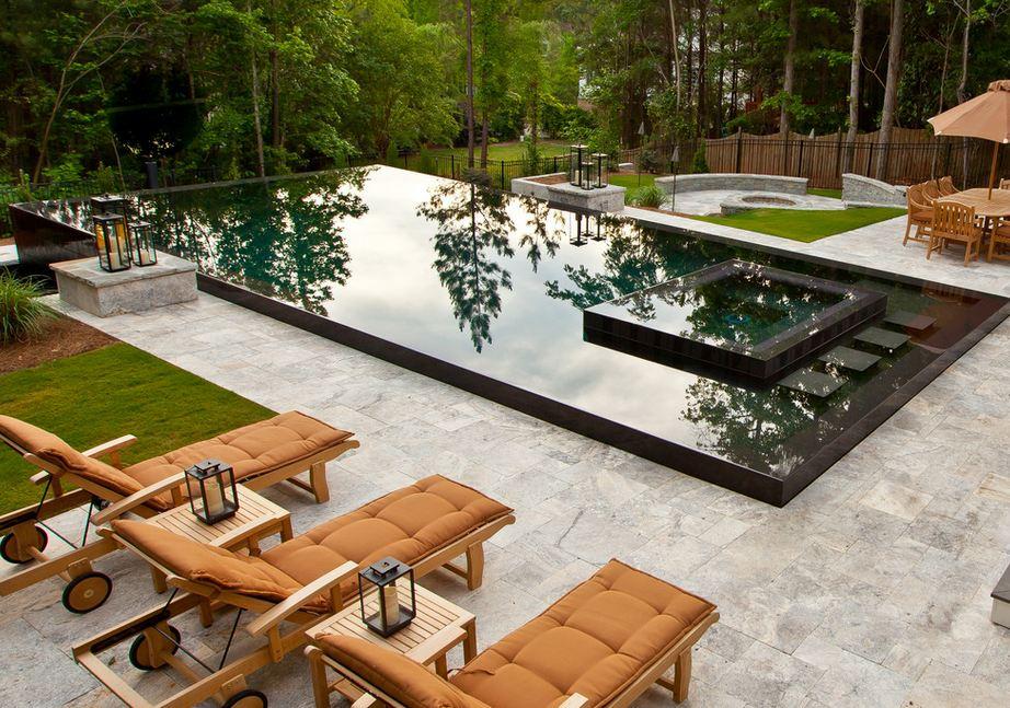 Дизайн прямоугольного бассейна
