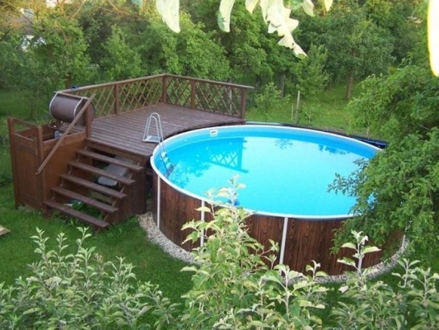 Фото дизайна круглого бассейна