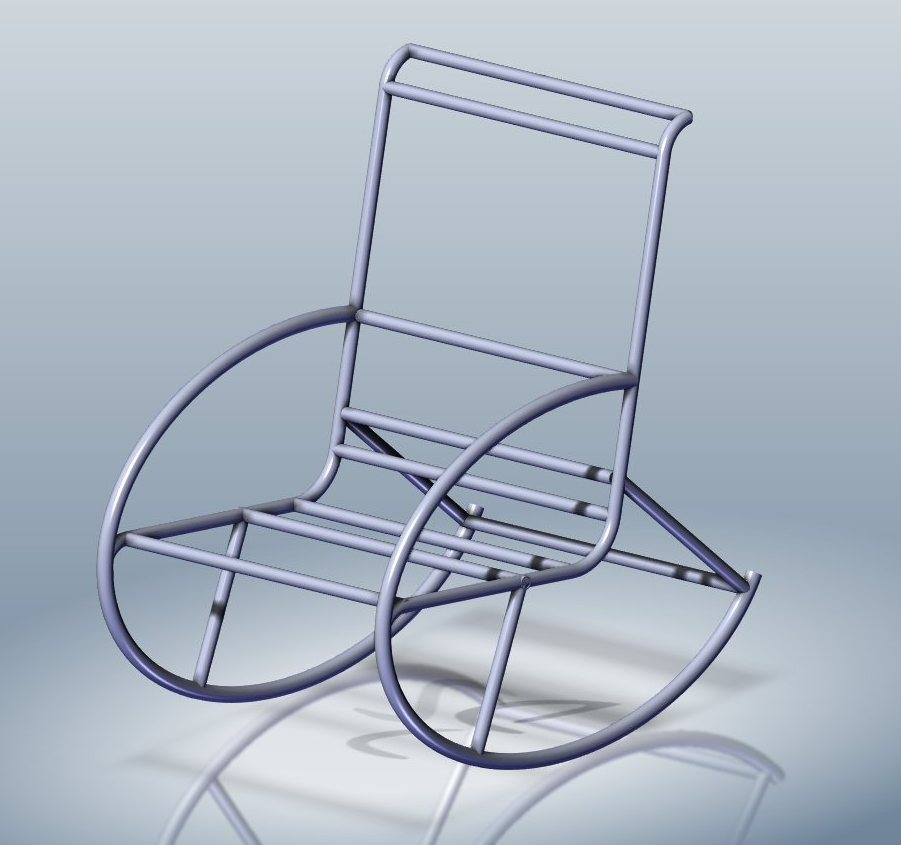 Кресло из полипропиленовых труб