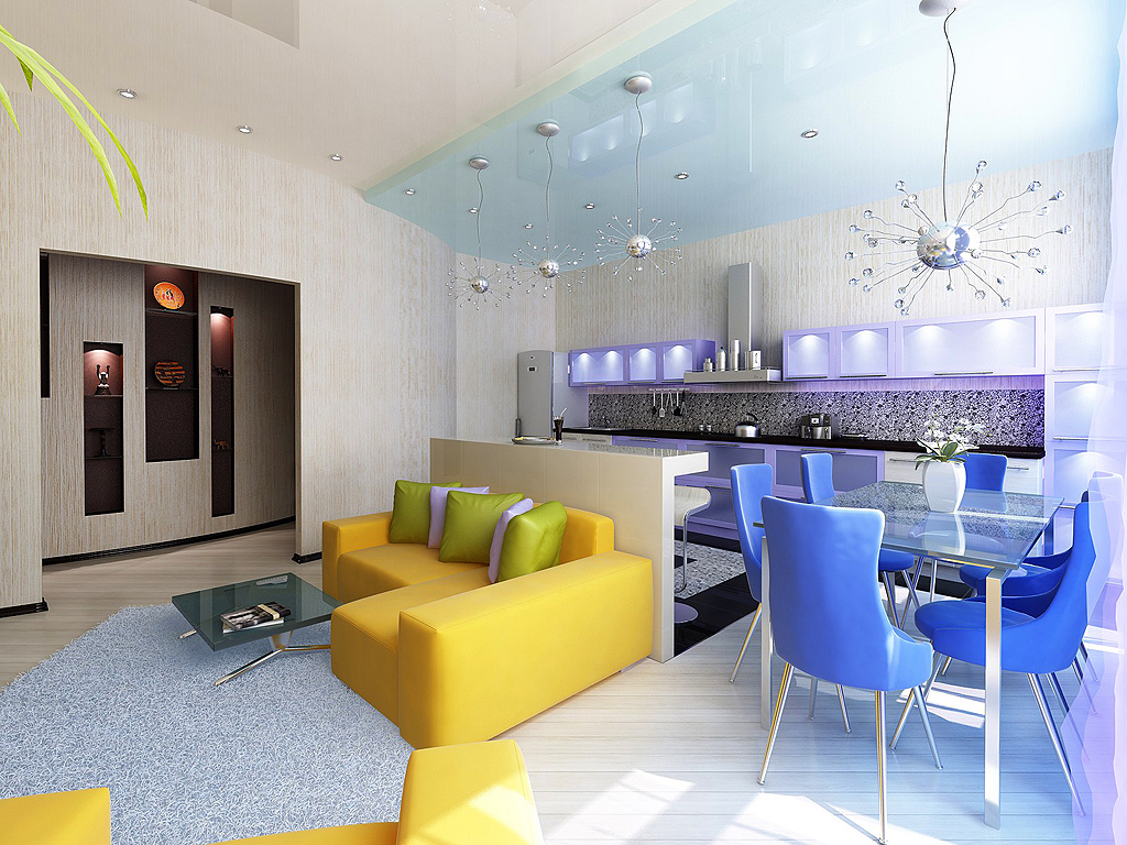 Квартира-студия квадратного типа