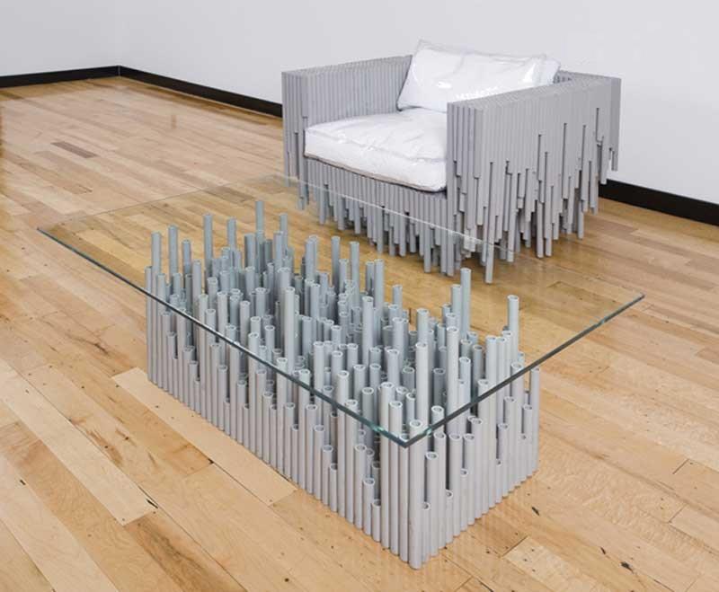 Мебель из пластиковых труб