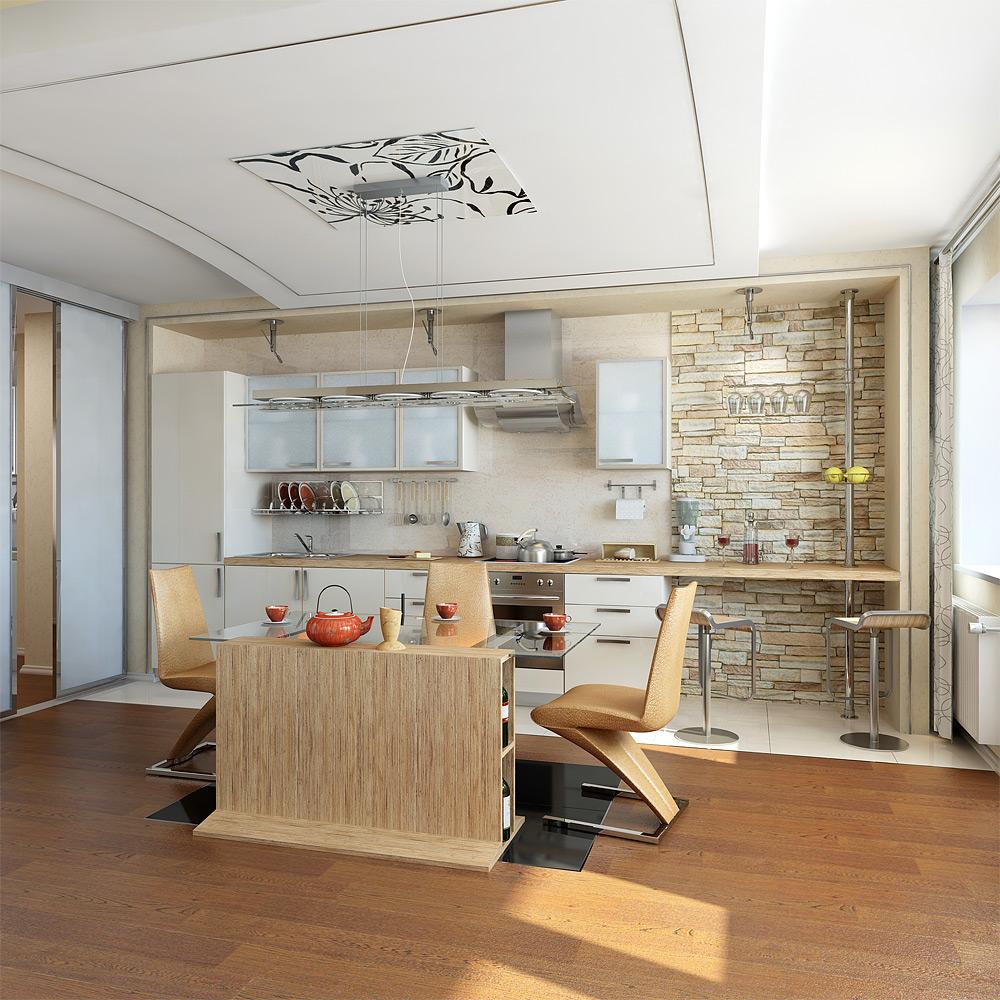 Современный дизайн интерьера квартиры-студии