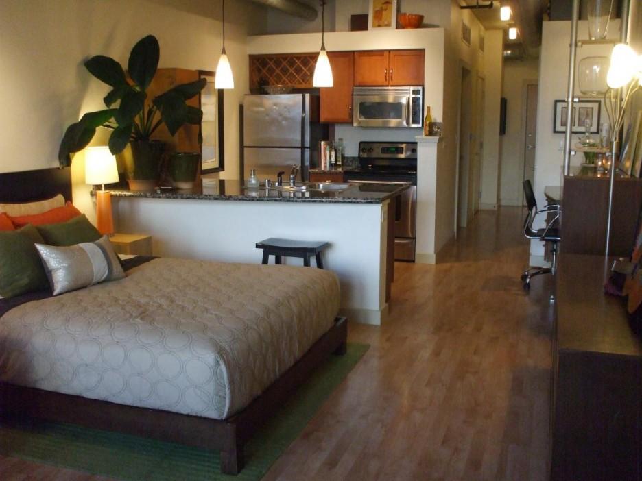 Спальня в квартире-студии