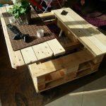 Фото 30: Раздвижной столик из паллет