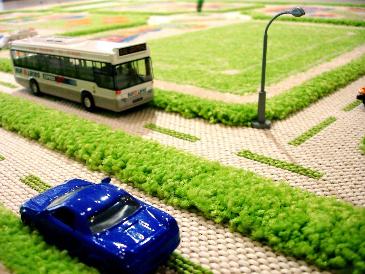 Зеленый коврик-дорога