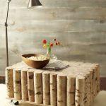 Фото 44: Журнальный столик из поленьев