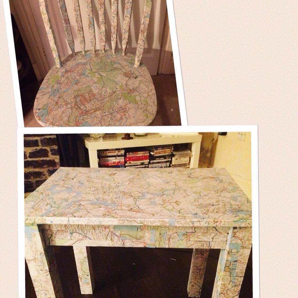 Старый атлас отлично подойдет для декорирования мебели в технике декопач