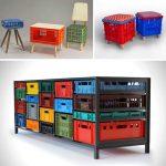 Фото 26: Мебель из пластиковых ящиков