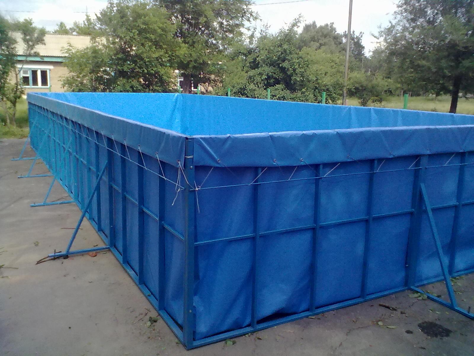 Основой для каркасного бассейна служит ткань ПВХ